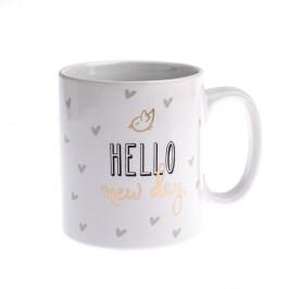 Porcelánový hrnček Dakls Hello New Day, 650 ml