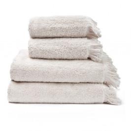 Sada 2 krémovobielych uterákov a 2 osušiek zo 100% bavlny Bonami, 50 × 90 + 70 × 140 cm