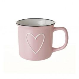 Ružový keramický hrnček Unimasa Star, 325 ml