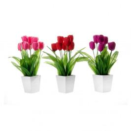 Sada 3 dekorácií v tvare kvetiny Unimasa Tulip