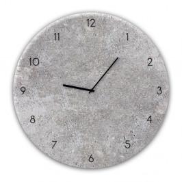 Nástenné hodiny Styler Glassclock Concrete II, ⌀ 30 cm