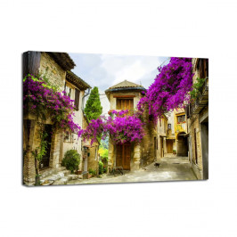Obraz Styler Canvas Watercolor Old Town, 60 × 80 cm