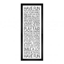 Obraz Styler Modernpik Have Fun, 24 × 68 cm