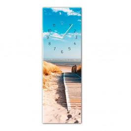 Nástenné hodiny Styler Glassclock Sunny, 20 × 60 cm