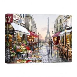 Obraz Styler Canvas Watercolor Paris I, 85×113 cm