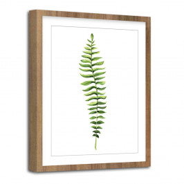 Obraz Styler Modernpik Greenery Wooden Fern, 30 × 40 cm