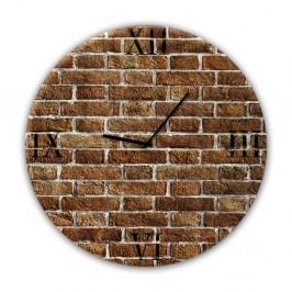 Nástenné hodiny Styler Glassclock Red Brick, ⌀ 30 cm