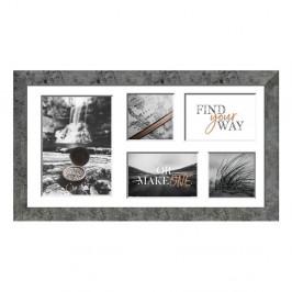 Sivý rámček na 5 fotografií Styler Yellowstone, 51×27 cm