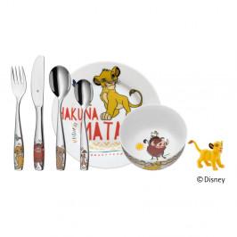 6-dielny detský jedálenský set WMF Cromargan® Leví kráľ