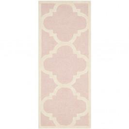 Ružový vlnený koberec Clark 60×91 cm