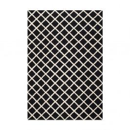 Vlnený koberec Sophie Black, 152x243 cm