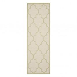 Béžový vlnený koberec Everly Cream, 76×243 cm