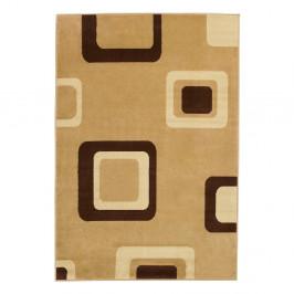 Béžový koberec Think Rugs Diamond, 80×140cm