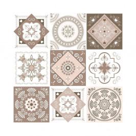 Sada 9 dekoratívnych samolepiek na stenu Ambiance Aniolo, 10×10 cm