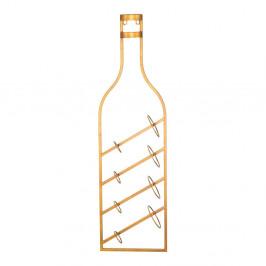 Nástenný držiak na fľaše v zlatej farbe Mauro Ferretti Marcello, 25 × 87 cm