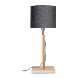 Stolová lampa s tmavosivým tienidlom a konštrukciou z bambusu Good&Mojo Fuji