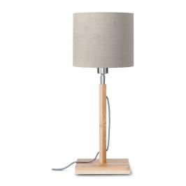 Stolová lampa s béžovým tienidlom a konštrukciou z bambusu Good&Mojo Fuji