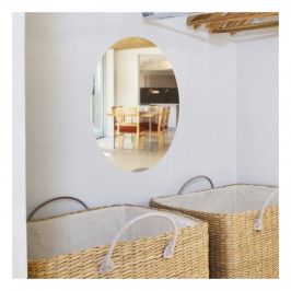 Zrkadlová adhezívna samolepka Ambiance Oval, 42×27cm