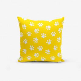 Žltá obliečka na vankúš s prímesou bavlny Minimalist Cushion Covers Yellow Background Pati, 45×45 cm