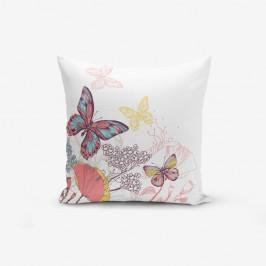 Obliečka na vankúš s prímesou bavlny Minimalist Cushion Covers Special Design Colorful Butterfly, 45×45 cm