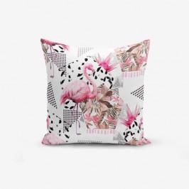 Obliečka na vankúš s prímesou bavlny Minimalist Cushion Covers Bat Petegi Flamingo, 45×45 cm