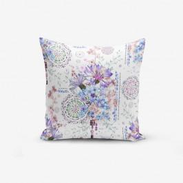 Obliečka na vankúš s prímesou bavlny Minimalist Cushion Covers Blue Purple Isleyen Carklar, 45×45 cm