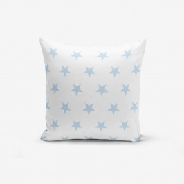 Obliečka na vankúš s prímesou bavlny Minimalist Cushion Covers Light Blue Star, 45 × 45 cm