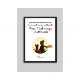 Obraz North Carolina Scandinavian Home Decors Little Prince Quote V3, 33 × 43 cm