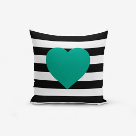 Obliečka na vaknúš s prímesou bavlny Minimalist Cushion Covers Striped Green, 45×45 cm