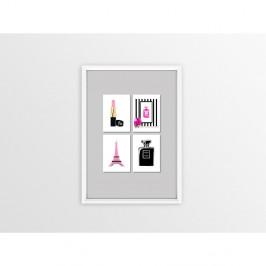 Obraz Piacenza Art Pink 4x Lipstick, 30×20 cm