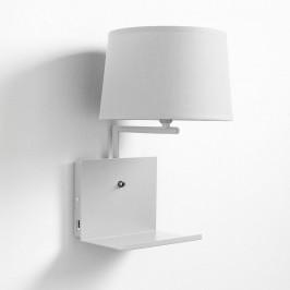 Biela nástenná lampa Tomasucci Nio