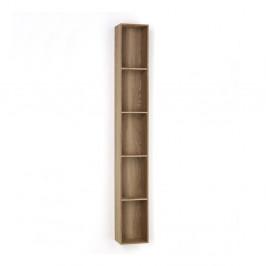 Drevená polička s 5 úložnými priestormi Tomasucci Billa, 150×15×20 cm