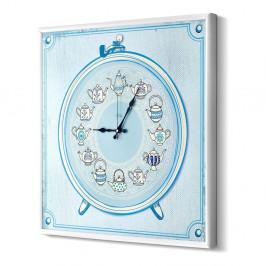 Modré nástenné hodiny The Mia Tea Time