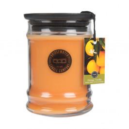 Sviečka v sklenenej dóze s vôňou pomaranča a vanilky Creative Tops, doba horenia 65-85 hodín