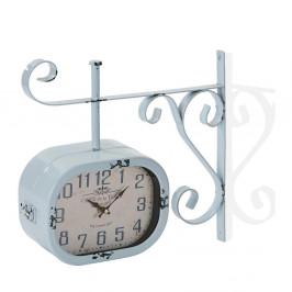Modré nástenné hodiny Versa Lado