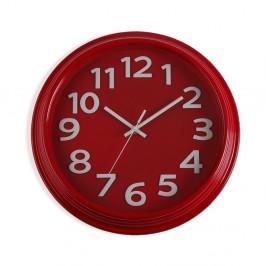 Červené nástenné hodiny Versa In Time, ⌀32,7 cm