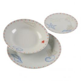 18-dielna sada porcelánových tanierov Versa Seafom