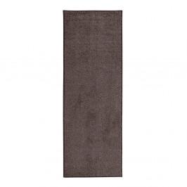 Antracitovosivý behúň Hanse Home Pure, 80 × 400 cm