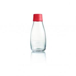 Červená sklenená fľaša ReTap s doživotnou zárukou, 300 ml