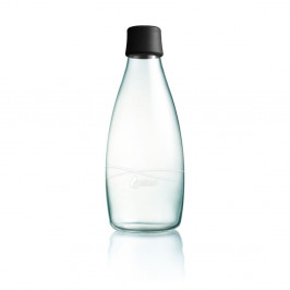 Čierna sklenená fľaša ReTap s doživotnou zárukou, 800ml