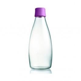 Fialová sklenená fľaša ReTap s doživotnou zárukou, 800 ml
