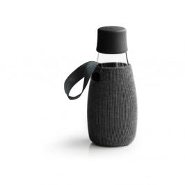 Čierny obal na sklenenú fľašu ReTap, 300 ml