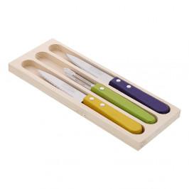 Sada 2 nožov a škrabky z antikoro ocele na lúpanie v darčekovom balení Jean Dubost Vegetable