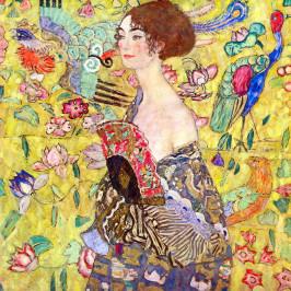 Reprodukcia obrazu Gustav Klimt Lady With Fan, 40×40cm