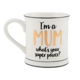Porcelánový hrnček Sass & Belle Super Mum, 300 ml