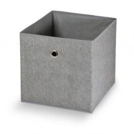 Sivý úložný box Domopak Stone, 32 x 32 cm