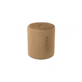 Svetlohnedý puf Mazzini Sofas Fiore, ⌀ 40 cm