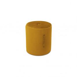 Oranžový puf Mazzini Sofas Fiore, ⌀ 40 cm