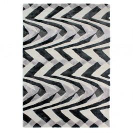 Čierno-sivý ručne tkaný koberec Flair Rugs Jazz, 200 × 290 cm