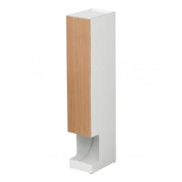 Biely zásobník na toaletný papier YAMAZAKI Rin Stocker, výška 71 cm